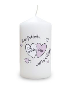 Perfect Love On Our Wedding Day Candle
