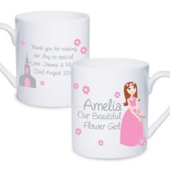 Personalised Fabulous Flower Girl Mug