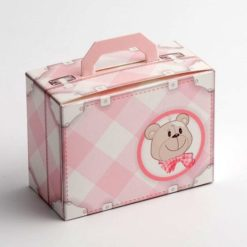 Pink Baby Suitcase Favour Box