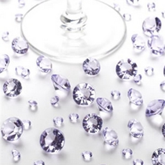 Lilac Grade A Table Crystals in 2 Sizes, Standard Pack