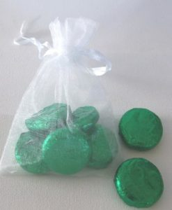 5 Mint Cremes in an Organza Bag. Choose the Colour