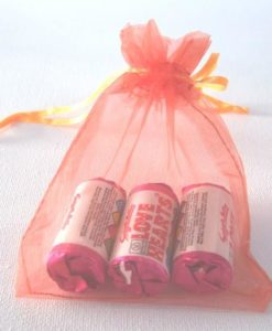 Medium Orange Organza Bags