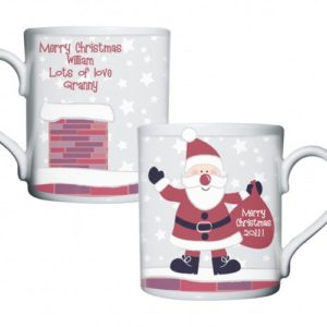 Personalised Roof Top Santa Mug
